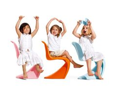 Verner Paton chairs designed for kids.