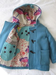 Hand sewn toggle button coat by Oliver + S Patterns