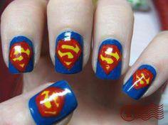 nail art superman