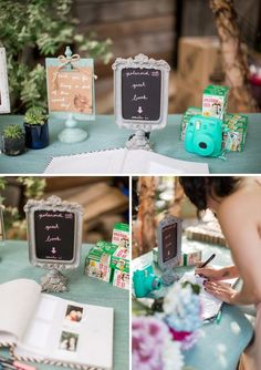 Darling polaroid guest book idea /  http://www.deerpearlflowers.com/creative-polaroid-wedding-ideas/2/