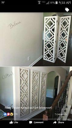 Room divider turned into wall art