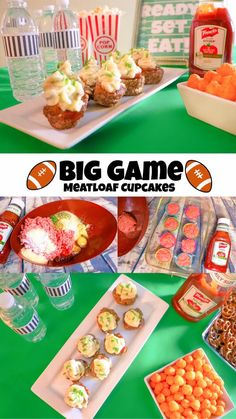 BIG GAME MEATLOAF CUPCAKES #KetchupWithFrenchs #Cbias #ad @frenchsfoods