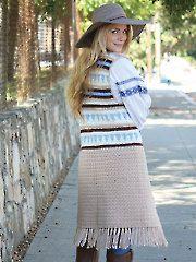 Crochet Patterns - Boho Crochet Vest pattern download from Annie's Craft Store. Order here: https://www.anniescatalog.com/detail.html?prod_id=128781&cat_id=24