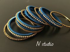 Silk thread bangle handmade design from Nstudio