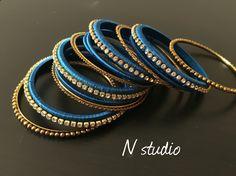 Silk thread bangle handmade design from Nstudio