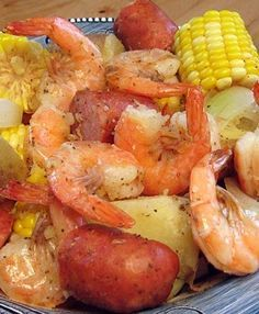 Lowcountry Boil - Recipe, BBQ, Grilling, Meal Ideas, Pork, Seafood, Quick and Easy, Sausage, Shrimp, Potatoes, Corn