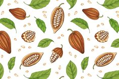 Cocoa tree hand drawn collection by Good Studio on creativemarket Tree Illustration, Graphic Illustration, Illustrations, Arte Shop, Free Wedding Cards, Cacao Chocolate, Winter Nail Art, Vector Hand, Wedding Card Design