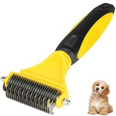 BAODATUI Pet Dematting Comb - Stainless Steel Grooming Brush for Small, Medium or Large Breeds Removes Mats, Tangles and Knots Easy and Gently. *** Very nice of you to drop by to view our image. (This is an affiliate link) Tangled Hair, Pet Fashion, Find Pets, Brush Cleaner, Dog Grooming, Easy Hairstyles, Pet Supplies, Knots, Dog Cat