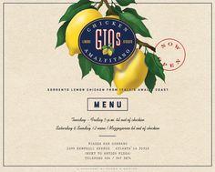 Gio's Chicken Amalfitano  [Sorrento Lemon Chicken from Italys Amalfi Coast] : Atlanta