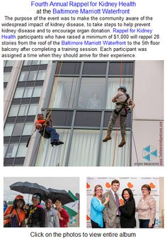 Fourth Annual Rappel for Kidney Health at the Baltimore Marriott Waterfront