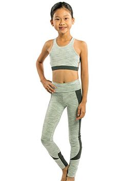 95eccf0460 Girls Dance or Gymnastics or Yoga or Workout Long Pants Apparel in New  Trendy Space Dye