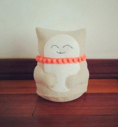Unique handmade fabric dolls made with a lot of Love! #fabric #doll #handmade #cat #lucky cat