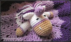 Princess Plum Unicorn Lovey Baby Lovey by HomespunAccessories, $18.00