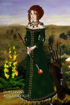 Posh Merida ~ by Inanna ~ created using the LotR Hobbit doll maker | DollDivine.com