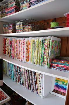 Craft Room Storage, Sewing Room Storage, Sewing Room Organization, Fabric Storage, Fabric Organizer, Organizing Ideas, Thread Storage, Ribbon Storage, Studio Organization