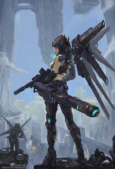 Cyberpunk Girl, Arte Cyberpunk, Cyberpunk Character, Female Character Design, Character Concept, Character Art, Concept Art, Arte Ninja, Fan Art Anime