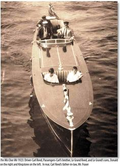 The Wa Chee We, a 35' Ditchburn in 1923.