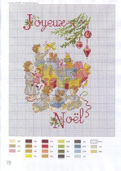 "Photo from album ""la magie de noel"" on Yandex. Xmas Cross Stitch, Cross Stitch Baby, Cross Stitch Charts, Cross Stitch Designs, Cross Stitching, Cross Stitch Embroidery, Cross Stitch Patterns, Cross Stitch Collection, Vintage Cross Stitches"