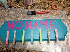 Live. Love. Math.: Monday Made It - No Name Board