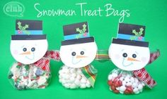You will love this cute snowman treat bag tutorial, along with FREE printable. Makes a great classroom, friend, neighbor, or teacher gift idea. Fill a treat bag with your a yummy treat, and turn into a festive snowman!