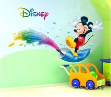 Details About Disney Bright Mickey Mouse Wall Decor Vinyl Sticker Decal  Nursery Kids Art Baby