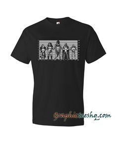MOVIE VILLAINS – alien, predator, terminator, the joker, vadar, Police Line Up Tee Shirt