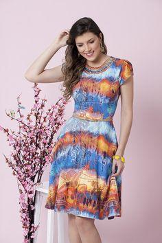 Vestido Sacha - Bella Herança - Moda Evangélica e Roupa Evangélica: Bela Loba