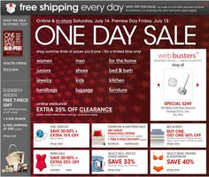 Get The Magic Of Macy's At Their 1 Day Sales Extravaganza *TODAY ONLY* 70% - 85% OFF!!!!!!!! *TODAY ONLY*  http://www.macys.com/