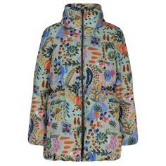Oilily Girls Multicoloured Padded Coat with Fold-Away Hood. Available at www.chocolateclothing.co.uk