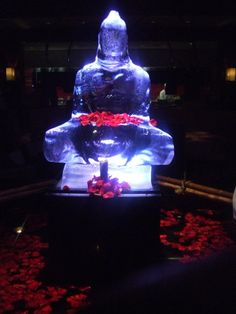 Seen an ice Buddha at Megu restaurant in NYC