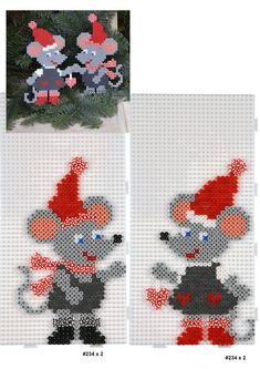 Inspiration for playing with Hama Beads Perler Bead Designs, Hama Beads Design, Diy Perler Beads, Hama Beads Patterns, Perler Bead Art, Beading Patterns, Pixel Art Noel, Christmas Perler Beads, Art Perle