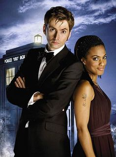 Doctor Who (David Tennant) and Doctor Jones (Freema Agyeman)