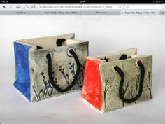 Kasse i keramik