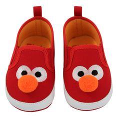 Baby Sesame Street Elmo Crib Shoes - Red 9-12M, Red Orange
