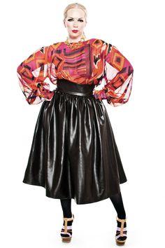 JIBRI Tribal Georgette Blouse and  skirt— JIBRI