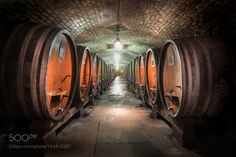 HDR photo of the historic wine cave within the old hospital of Strasbourg (France) by huubkeulers. @go4fotos