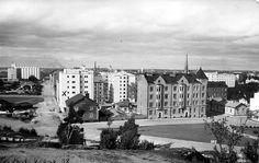 Viborg town, 1940's, today on the Russian side of border   Pellervonkatu / Pontiuksenkatu 1940-luku - VIIPURI, Finland