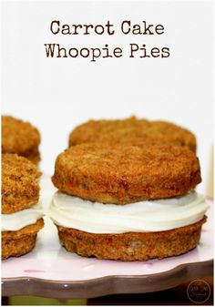 These delightful Carrot Whoopie Pies are a switch up of my Mother-in-Laws delicious Carrot Cake! One bite and you'll be sold!