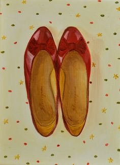 Original Oil Painting Still Life Painting by SimplePleasureArt Dorothy Red Shoes, Oil Painting For Sale, Shoe Painting, Art Pariétal, Magic Shoes, Collections Of Objects, Beauty Illustration, Painting Still Life, Fashion Painting