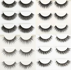 Wehous 12 Pairs 4 styles Multipack Luxurious Real Mink Natural Cross Thick Long False Black Eyelashes Eye Lashes Makeup >>> Find out more about the great product at the image link. Faux Lashes, Thick Lashes, Natural Eyelashes, Long Lashes, False Eyelashes, Makeup Brushes, Eye Makeup, Dramatic Look, Makeup Yourself
