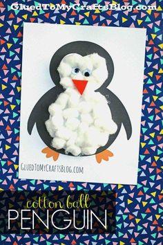 Cotton Ball Penguin {Kid Craft}