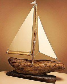 E-post – Henrik Karthon Larsen – Outlook Driftwood Beach, Driftwood Art, Driftwood Projects, Sea Crafts, Wood Boats, Wooden Art, Beach Art, Wood Sculpture, Coastal Decor