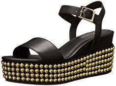 Delman Women's D-Angie-B Studded Wedge Sandal *** Click on the image for additional details.