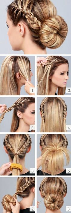- Cute and Easy Hairstyles. - Source Cute and Easy Hairstyles. Cute and Easy Hairstyles. Sock Bun Hairstyles, Pretty Hairstyles, Everyday Hairstyles, Hairstyles 2018, Hairdos, Simple Hairstyles, Wedding Hairstyles, Latest Hairstyles, Summer Hairstyles