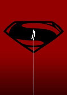 Superman Man Of Steel Minimal Artwork Superhero Poster