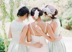 Adorable bridesmaid photo by Leah Kua. www.wedsociety.com #wedding #bridesmaids