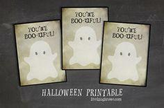 You're Boo-tiful! | Halloween Printable - livelaughrowe.com