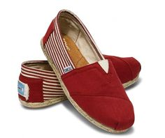Toms Shoes Women Burlap Sole Red [toms 108] - $26.99 : cheap womens toms shoes,toms shoes on sale.. all toms are 27!! oh my gosh!!!!