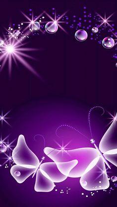 Blue Butterfly Wallpaper, Purple Wallpaper, Purple Backgrounds, Butterfly Art, New Wallpaper, Flower Wallpaper, Wallpaper Backgrounds, Butterflies, Phone Screen Wallpaper