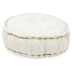 Check out this item at One Kings Lane! Nina Pouf, Flax